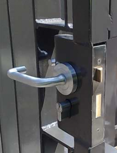 mortise gate lock